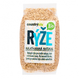 Ryža guľatozrnná natural 500 g BIO COUNTRY LIFE