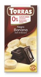 Torras čokoláda DIA horká čok. s banánom 75g