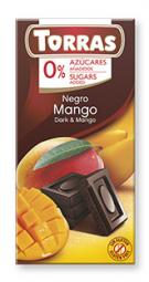 Torras čokoláda DIA horká čok. s mangom 75g