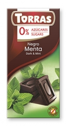 Torras čokoláda DIA horká čok. s mätou 75g