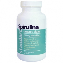 Spirulina organic 250 mg, 200 tabliet