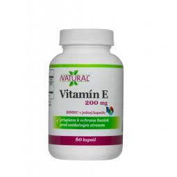 Vitamín E - DL-alpha tocopheryl acetate 60 kpsl
