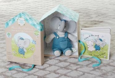 Darčekový set DELUXE knižka + hračka - sloník Alvin
