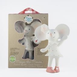 Pískatko/hryzátko (100% prírodný kaučuk) - myška Meiya