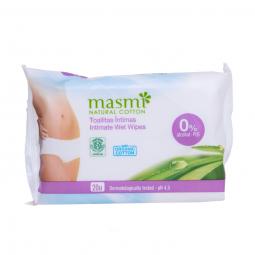 Organické bavlnené intímne obrúsky 20ks MASMA