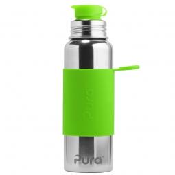 Pura® nerezová fľaša so športovým uzáverom 850ml - Zelená