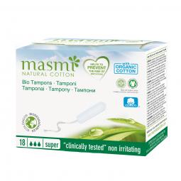 Tampóny z organickej bavlny Super MASMA