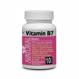 Vitamín B7 Biotin 300 mcg 60 kapsúl