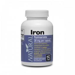Železo, 20 mg, 100 kapsúl