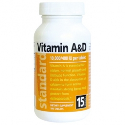 Vitamín A&D, 10 000/400 IU, 100 tabliet