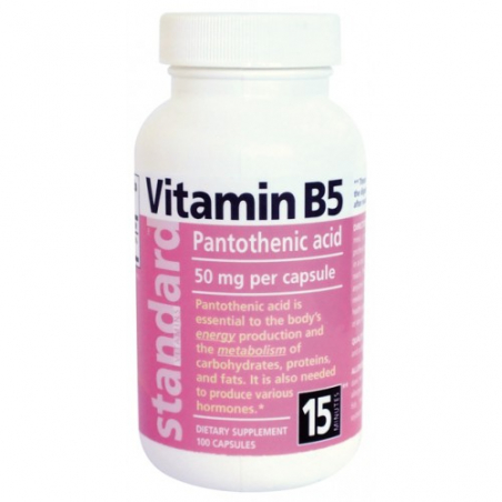 Vitamín B5 20 mg, 100 kapsúl