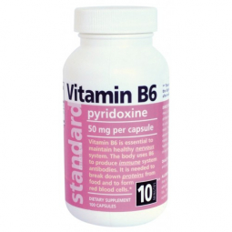 Vitamín B6 20 mg, 100 kapsúl