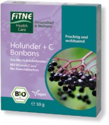 BIO bylinné cukríky s bazou a vitamínom C - 50g