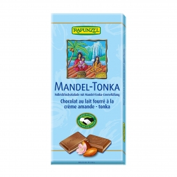 Čokoláda mliečna s náplňou Mandle Tonka BIO 100 g Rapunzel *