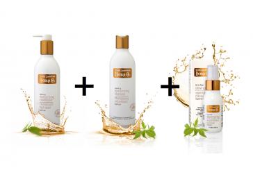 Hydratačný kondicionér + Hydratačný šampón + Sprej pre žiarivý lesk ZDARMA