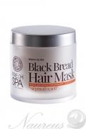 Posilňujúca a lesk dodávajúca vlasová maska Čierny chlieb BANIA DETOX