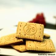 Maslové sušienky s čokoládovou polevou