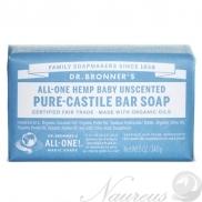 Dr. Bronner's, Bez vône - Baby, Tuhé mydlo, 140 g