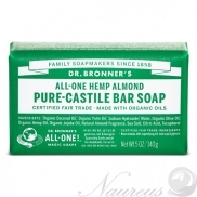 Dr. Bronner's, Mandľa, Tuhé mydlo, 140 g