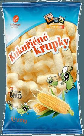 Kukuričné chrumky KLASIK bez soli 100 g