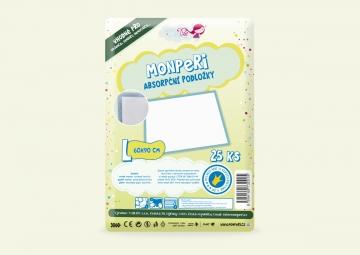 MonPeri absorpčné podložky L 25 ks