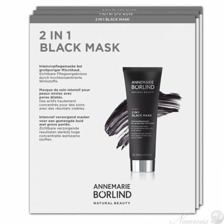 Čierna maska 2v1 - VZORKA