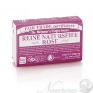 Dr. Bronner's, Ruža, Tuhé mydlo, 140 g