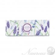 Darčeková kazeta trikrát mletých talianskych rastlinných mydiel – Levanduľa a Ružové korenie