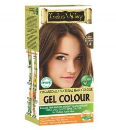 Gélová farba na vlasy Tmavomedená Blond 7.4