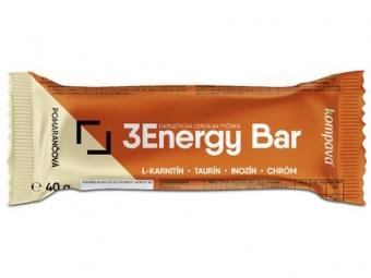 3Energy bar 40 g pomarančová/mliečna poleva
