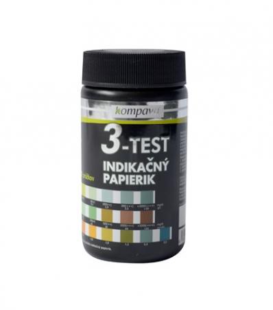 Lakmusové papieriky 3v1 3-Test 50 ks / 1 tuba