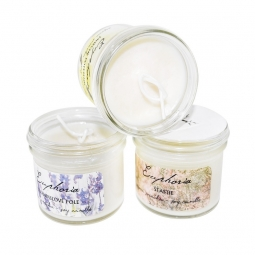 Levanduľové pole - ručne odlievaná sójová sviečka