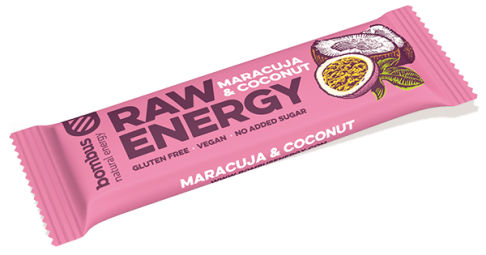 Tyčinka Bombus RAW ENERGY maracuja-kokos 50g