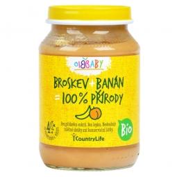 Príkrm broskyňa, banán 190 g BIO