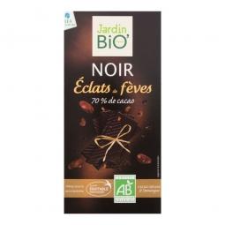 Čokoláda horká s kúskami kakaových bôbov 100 g BIO