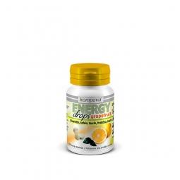 Energy drops 92 g / 80 tabliet grapefruit