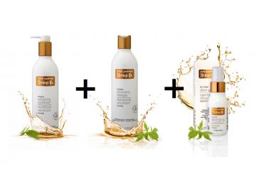 Kondicionér zväčšujúci objem + Šampón zväčšujúci objem + Sprej pre žiarivý lesk ZDARMA