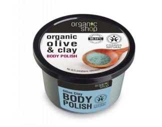 Organic Shop - Telový peeling Olivový olej a íl 250 ml