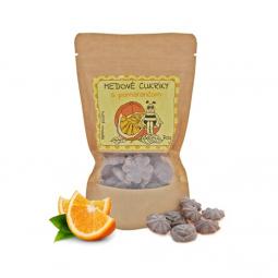 Medové cukríky - s pomarančom 70g