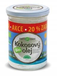 Kokosový olej panenský BIO 300ml + 20% zdarma