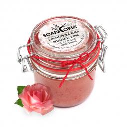 Romantická ruža - organický soľný telový peeling