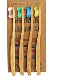 Bambusové zubné kefky Soft - balenie 4 ks