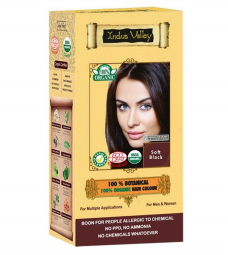 100% Rastlinná, 100% Organická farba na vlasy Jemná Čierna
