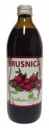 Šťava Brusnica 100% 500ml