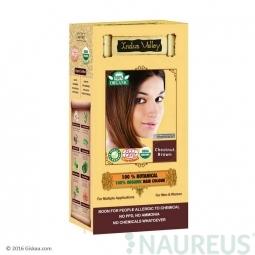 100% Rastlinná, 100% Organická farba na vlasy Gaštanovohnedá
