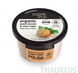 Organic Shop - Penový telový peeling Sladké mandle 250 ml