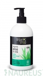 Organic Shop - Barbadosské Aloe - Mydlo na ruky 500 ml