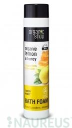 Organic Shop - Citrón a Med - Vyhladzujúca pena do kúpeľa