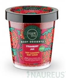 Organic Shop - Jahodový džem - Telový peeling 450 ml