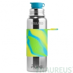 Pura® TERMO fľaša so športovým uzáverom 650ml - Zelená-aqua